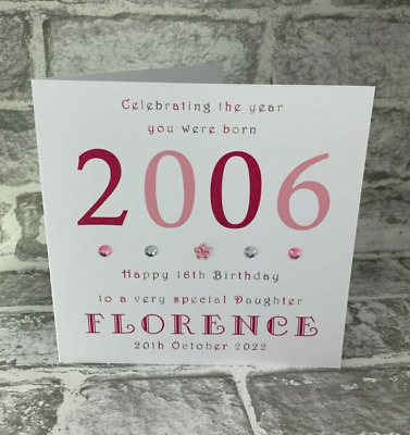 £3.95 • Buy 16th Year You Were Born 2005 Birthday Card Personalised 6  Daughter Sister Niece