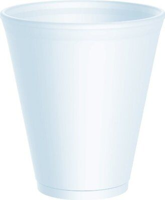 100 X Dart 12oz White Disposable Foam Polystyrene Cups Insulated Cold Tea Coffee • 9.75£