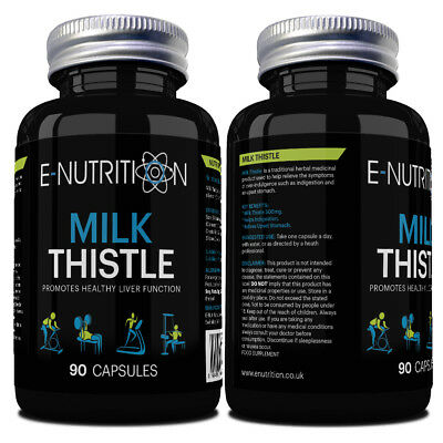 £10.99 • Buy 100% Pure Milk Thistle 90 Capsules | Huge 3 Month Supply | Powerful Liver Detox