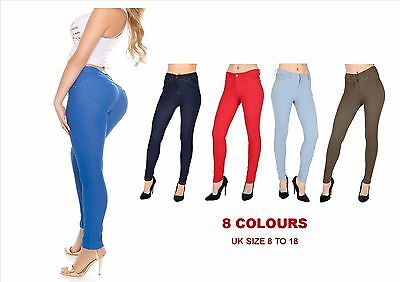 £7.98 • Buy New Womens Jeggings Skinny Fit Coloured Stretchy Girls Fashion Jeans Trousers