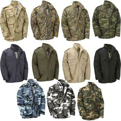 AU81.30 • Buy Army Jacket Vintage US M65 Military Field Top Combat Lined Coat Urban Green Navy