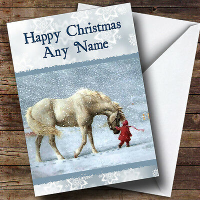 £3.79 • Buy Beautiful Horse Christmas Greetings Card Personalised