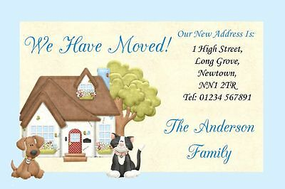 Dog And Cat New Home Change Of Address Moving House Cards • 17.95£