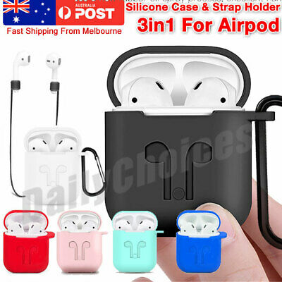 AU4.95 • Buy For Apple Airpods 1 & 2 Shockproof Silicon Slim Skin Charging Case Rubber Cover