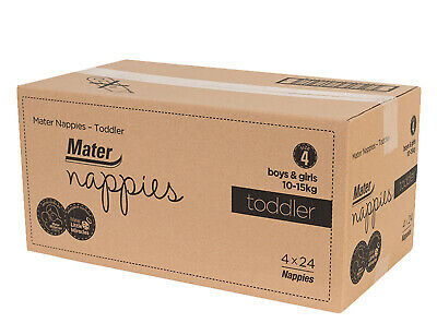 AU53.96 • Buy Mater Nappies Toddler Size 4, 10-15kg Australian Made, Carton 96 Nappies