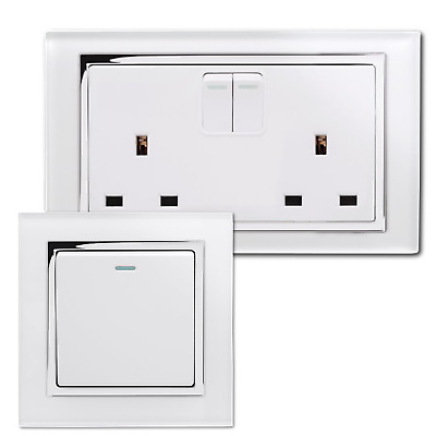 Retrotouch Crystal White Screwless Sockets And Switches (Chrome Trim) • 31.75£