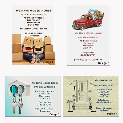 Change Of Address Cards •  Moving House Cards • New Home Cards • Personalised  • 8.49£