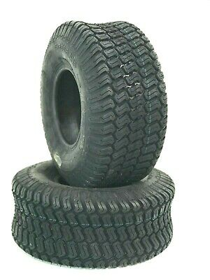 £47.12 • Buy TWO 15X6.00-6 Lawn Tractor 15X6-6 4 Ply Rated Lawn Mower Set Two Tires 15/6x6