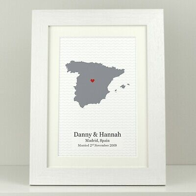 Personalised Special Place Map Engagement Gift / Wedding Anniversary Present  • 5.49£