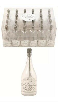 £12.99 • Buy 48x Champagne Bottle Wedding Favors Bubbles Party Table Decorations In Silver UK