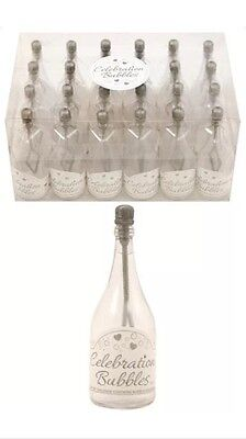 £22.99 • Buy 96x Champagne Bottle Wedding Favours Bubbles Party Table Decorations Silver UK