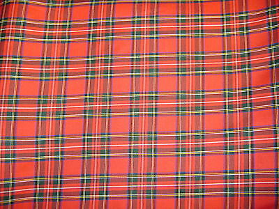 Tartan-Royal Stewart-150cm Woven Fabric. Only Pay One COMBINED Postal Charge. • 4.99£