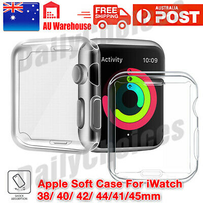 AU5.45 • Buy Apple Watch Series 3 Case IPhone Watch  2 3 4 5 Clear Case Cover For 42 38 40 44