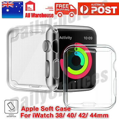 AU8.39 • Buy Full Cover TPU Case IWatch Screen Protector For Apple Watch Series 5 4 3/ 2 / 1