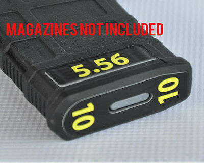$11 • Buy 5.56 MAGAZINE STICKERS Fits MAGPUL PMAG 30 GEN M3 MAGS YELLOW NUMBERS 7-12