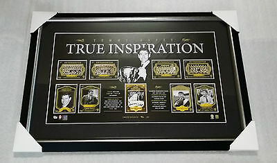 AU495 • Buy Richmond Tigers Hand Signed Tommy Hafey Card Print Framed Premiers Official Afl