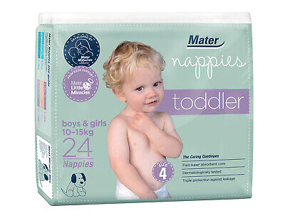 AU14.99 • Buy Mater Nappies Toddler Size 4, 10-15kg Australian Made Hospital-developed 24 Pack