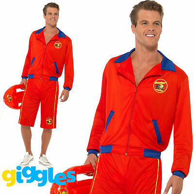 £26.99 • Buy Adult Mens Official Baywatch Lifeguard Costume Beach 80s 90s Fancy Dress Outfit