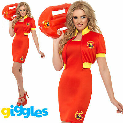 AU35.64 • Buy Baywatch Beach Lifeguard 80s 90s Adult Costume Womens Ladies Fancy Dress Outfit