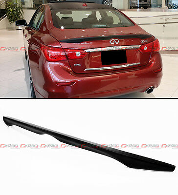 $ CDN79.92 • Buy Fits For 14-2021 Infiniti Q50 S Factory Sport Style Abs Trunk Boot Spoiler Wing