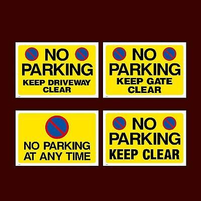 £0.99 • Buy No Parking / Keep Clear Plastic Sign, Sticker - All Sizes - Pick Your Design