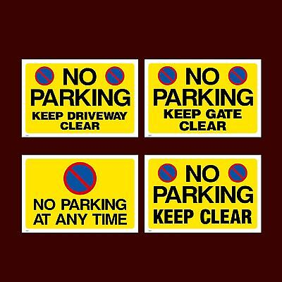 No Parking / Keep Clear Plastic Sign, Sticker - All Sizes - Pick Your Design • 0.99£