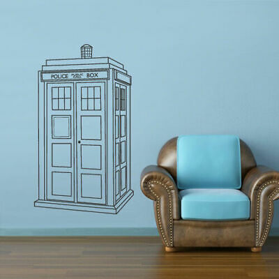Wall Decal Vinyl Sticker Bedroom Dorm Doctor Who Tardis Police Box (Z2651) • 22.37£