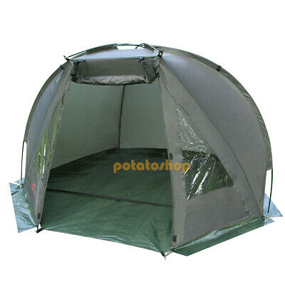 Carp Fishing Bivvy Day Shelter Tent Quick Erect Outdoor Tackle Drizzle 1 Man • 43.99£