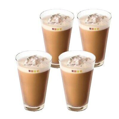 Set Of 4 Nescafé Dolce Gusto Ice Cappuccino Coffee Cup Cold Drink Iced Tea Glass • 7.99£