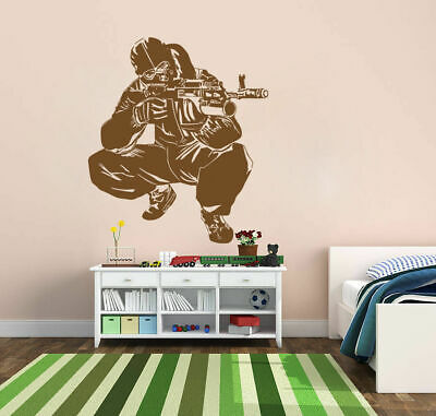 $28.99 • Buy Ik719 Wall Decal Sticker Army Soldier Military Shooter Sniper Weapon Gun Vest