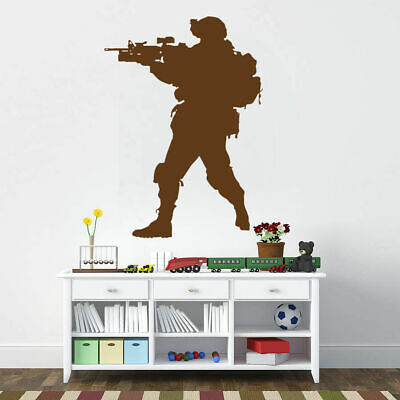 $28.99 • Buy Ik731 Wall Decal Sticker Army Soldier Military Shooter Sniper Weapon Gun Vest