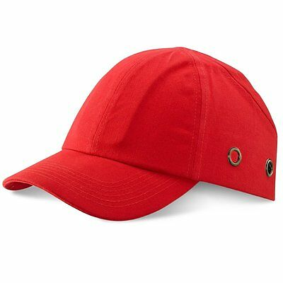 RED Safety Baseball Cap Bump Hard Hat Lightweight Head Protection  • 9.99£