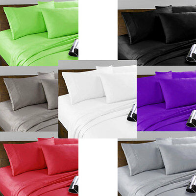 AU31.96 • Buy Soft Microfibre Fitted Sheet Set - Single King Single Double Queen And King Size