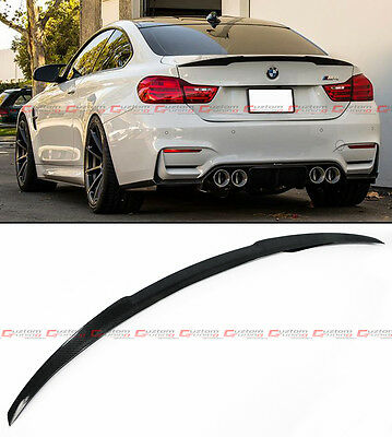 $134.99 • Buy For 2015-2019 Bmw F82 M4 V Performance Style Carbon Fiber Trunk Lid Spoiler Wing
