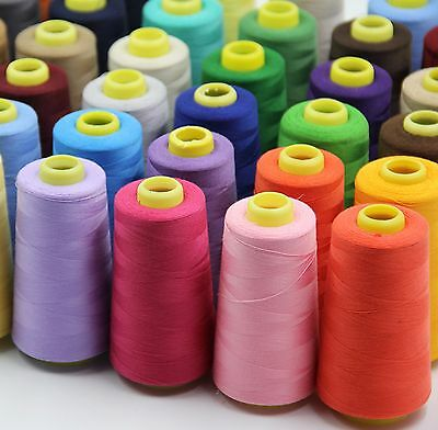 Industrial Overlock Sewing Machine Polyester Thread 5000 Mtrs Buy 2 & Get 2 Free • 6.99£