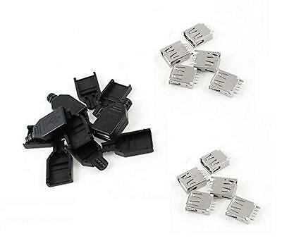 $6.16 • Buy 50pcs USB2.0 Type-A Plug 4-pin Female Adapter Connector Jack Plastic Cover