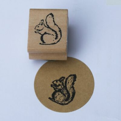 East Of India Mini Squirrel Rubber Stamp Craft / Card Making / Scrapbooking • 3.95£
