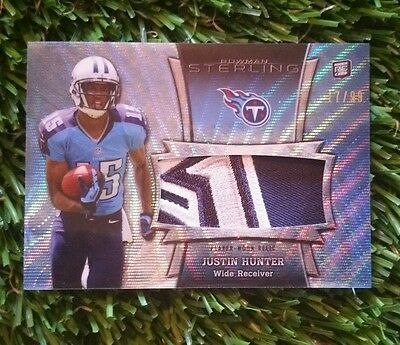 $20 • Buy 2013 Bowman Sterling JUSTIN HUNTER RC 4 Color Patch #/99 Wow