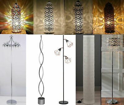 Moroccan Style Floor / Table Lamp Jeweled Cutwork Flower Stunning Brand New • 80£