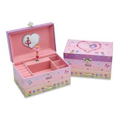 Pink Fairy Butterfly Kids Girls MUSICAL JEWELLERY BOX / Music Chest -Lucy Locket • 16.79£