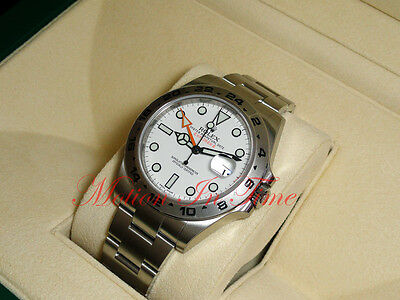 $ CDN13232.38 • Buy Rolex Explorer II 42mm Stainless Steel White Dial Orange Hand Oyster 216570