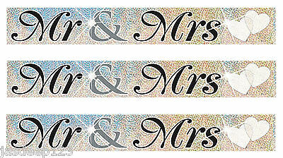 12 Feet Mr And Mrs Wedding Party Foil Banner Decoration Wall Couple Banners • 1.75£