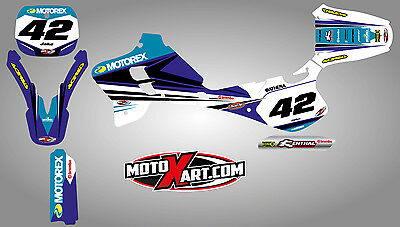 AU179.90 • Buy Yamaha YZ 125 / 250 - 1993 - 1995 Full Custom Graphics Kit STRIKE Style Stickers