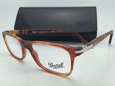 8e54c3eb63cc7 New PERSOL Rx-able Eyeglasses 3014-V 96 50-17 Honey-Havana
