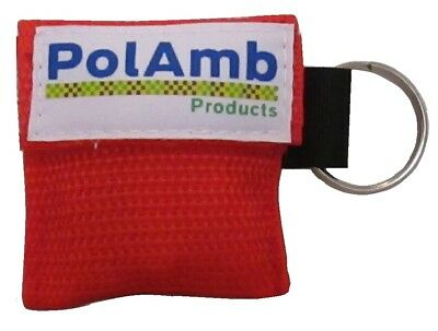 £4.90 • Buy 2 X CPR Face Shield In Keyring RED Pouch- Ambulance First Responder, Paramedic