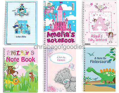 PERSONALISED A5 PAPER NOTEBOOK Gifts For Girls Boys Childrens Kids Present Idea • 7.50£