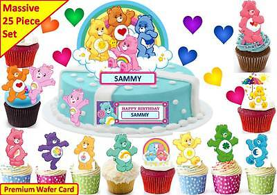 £4.49 • Buy Care Bears Cup Cake 3D Scene Topper Wafer Edible Birthday Party STAND UP CUSTOM