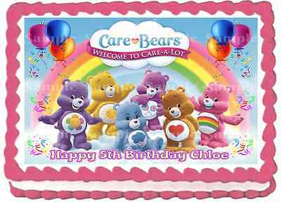 £3.99 • Buy Edible Care Bears Rainbow A4 Personalised Birthday Party Icing Cake Toppers