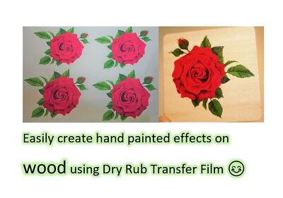 Clear Dry Rub Off Transfer Paper - Create Rub On Decals - Inkjet - Laser - A4  • 2.99£