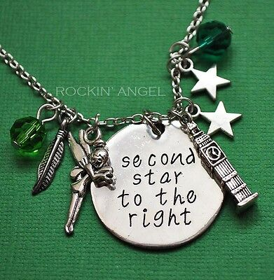 £6.25 • Buy  'Second Star To The Right' Tinkerbell, Peter Pan Pendant Necklace, Ladies Gift